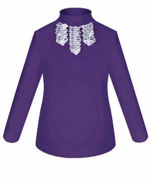 Школьная фиолетовая водолазка (блузка) для девочки Цвет: фиолетовый