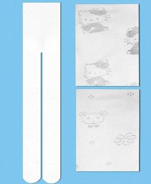 Белые капроновые колготки для девочки Цвет: белый