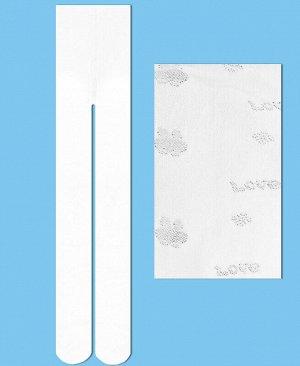 Капроновые колготки для девочки Цвет: белый