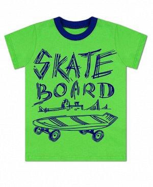 Зелёная футболка для мальчика Цвет: зеленый