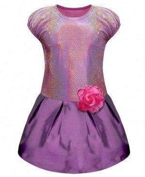 Сиреневое нарядное платье для девочки Цвет: лаванда