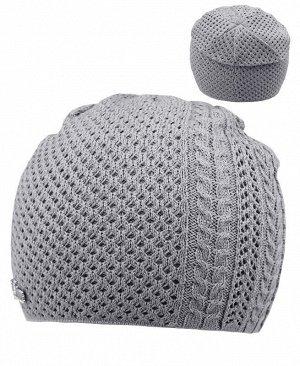 Серая шапка для девочки Цвет: серый