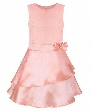 Нарядное коралловое платье для девочки Цвет: абрикос