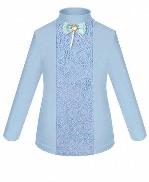 Голубая школьная водолазка (блузка) для девочки Цвет: голубой