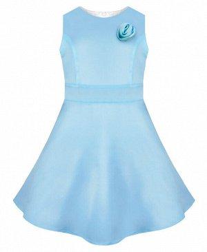 Голубое нарядное платье для девочки Цвет: бл.голубой