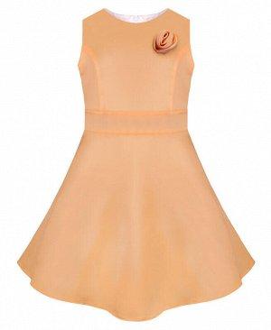 Бежевое нарядное платье для девочки Цвет: абрикос