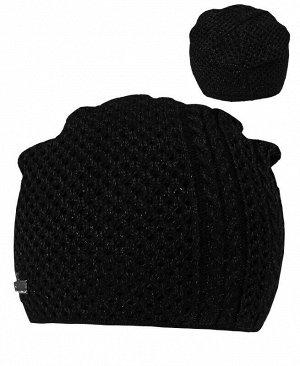 Черная шапка для девочки Цвет: черный