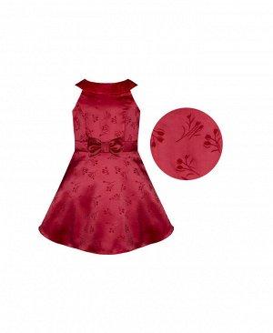 Красное нарядное платье для девочки Цвет: красный