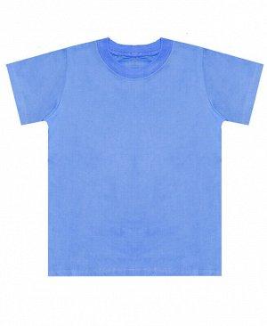 Детская голубая футболка Цвет: т.голубой