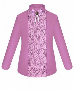 Фиолетовая школьная водолазка (блузка) для девочки Цвет: сиреневый