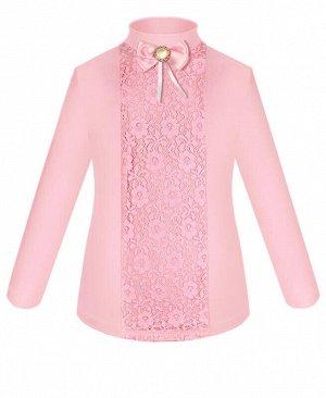 Розовая школьная водолазка (блузка) для девочки Цвет: розовый