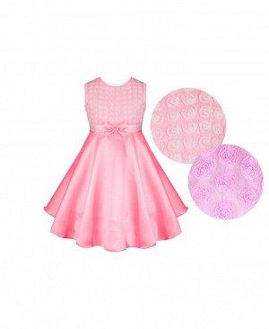 Розовое нарядное платье для девочки Цвет: розовый