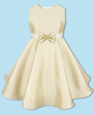 Молочное нарядное платье для девочки Цвет: экрю