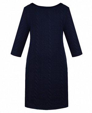 Синее школьное платье для девочки Цвет: синий