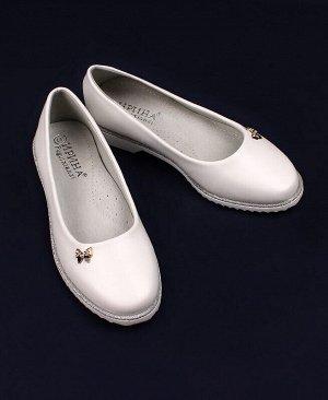 Туфли для девочки белые Цвет: белый