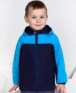 Ветровка для мальчика бирюза+т.синий,рост 92-122 Цвет: бирюза+ т.син