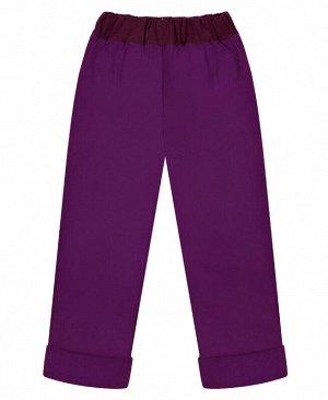 Фиолетовые утеплённые брюки для девочки Цвет: фиолетовый