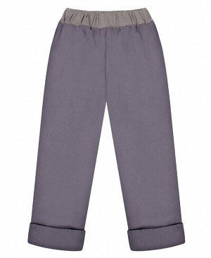 Серые брюки для девочки Цвет: антрацит