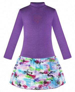 Фиолетовое платье для девочки Цвет: фиолет