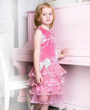 Розовое нарядное платье для девочки Цвет: св.розовый