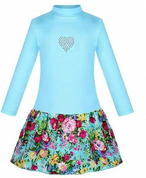 Голубое платье для девочки Цвет: голубой