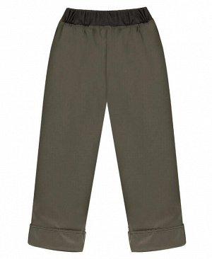 Серые утеплённые брюки для девочки Цвет: серый