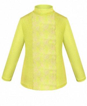 Жёлтая водолазка (блузка) для девочки Цвет: жёлтый