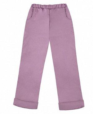 Теплые сиреневые брюки для девочки Цвет: сирень