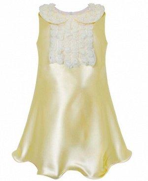 Молочное нарядное платье для девочки Цвет: шампань