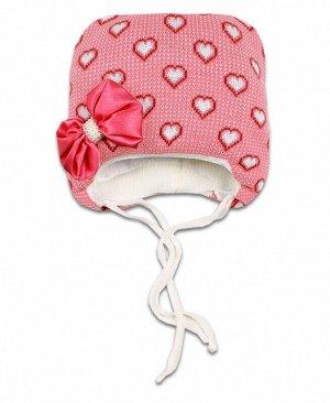 Шапка зимняя для девочки Цвет: т.розовый