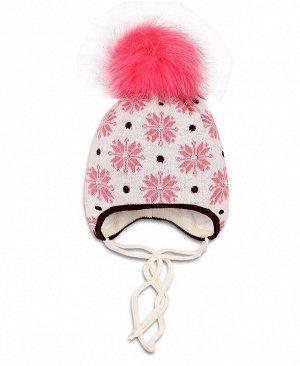 Шапка для девочки, розовая Цвет: розовый