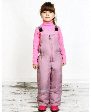 Зимний полукомбинезон для девочки гр.розовый,р.92-122 Цвет: гр.розовый