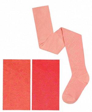 Коралловые колготки для девочки Цвет: коралловый