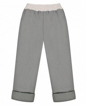 Теплые серые брюки для девочки Цвет: серый