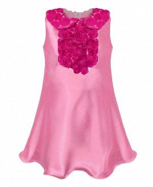Розовое нарядное платье для девочки Цвет: роз+фуксия
