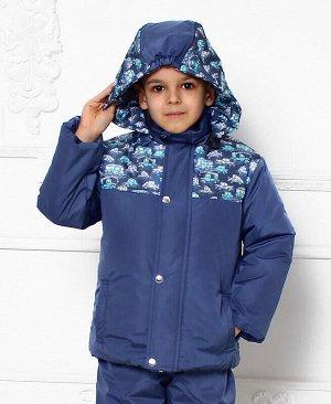 Зимняя куртка для мальчика Цвет: серо-голубой