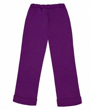 Теплые фиолетовые брюки для девочки Цвет: фиолет