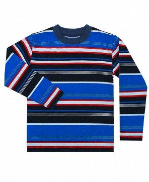 Джемпер для мальчика в полоску Цвет: полос+красн