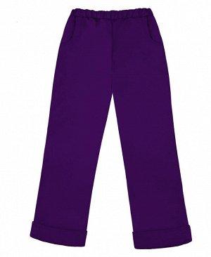 Теплые фиолетовые брюки для девочки Цвет: т.фиолет.