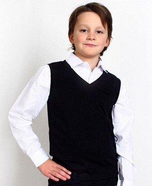 Школьный черный жилет для мальчика Цвет: черный