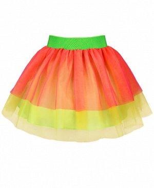 Нарядная жёлтая юбка из сетки для девочки Цвет: жёлтый