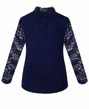 Синяя водолазка (блузка) для девочки Цвет: синий