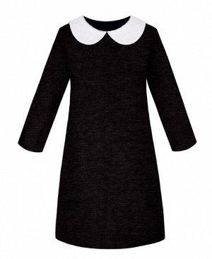 Серое школьное платье для девочки Цвет: серый меланж