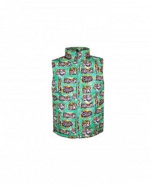 Теплый зеленый жилет для мальчика Цвет: зеленый