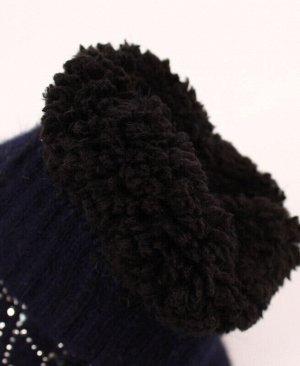 Варежки для девочки Цвет: серый