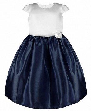Нарядное платье для девочки Цвет: тёмно-синий