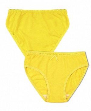 Трусы желтые для девочки Цвет: жёлтый