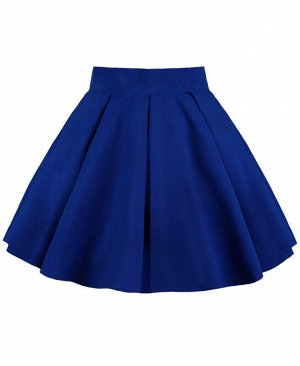 Синяя юбка для девочки в складку Цвет: синий