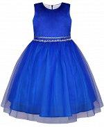 Нарядное синее платье для девочки Цвет: синий