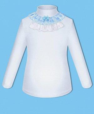 Белая школьная водолазка (блузка) для девочки Цвет: белый